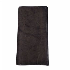 Rolfs Long Cowhide Check Book Credit Card Wallet